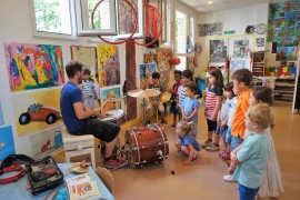 « Amy's Minute » – Percussion Workshop with a drummer! – 1st of June 2017