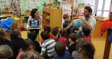 «La minute de Véronique»: 16 janvier 2014- visites des scientifiques: Anne-Claire Bihan-Poudec glaciologue de l'APECS et Laurent Desse de Wild-Touch